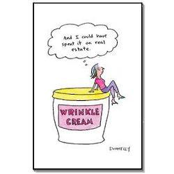 Wrinkle Cream Funny Birthday Card