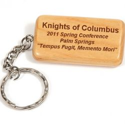 Personalized Solid Maple Keychain