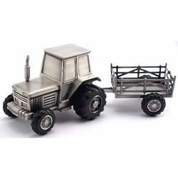 Personalized Tractor and Wagon Coin Bank
