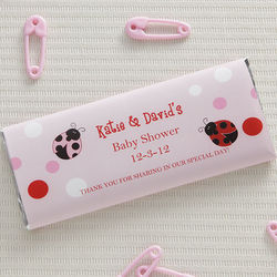 Ladybug Love Personalized Candy Bar Wrappers
