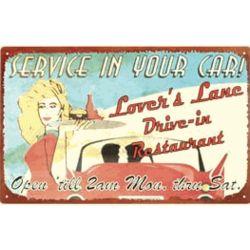 Drive-in Restaurant Nostalgic Tin Sign