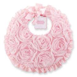 Pink Chiffon Rosette Bib