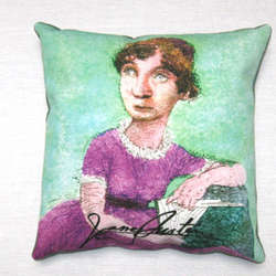 Jane Austen Pillow