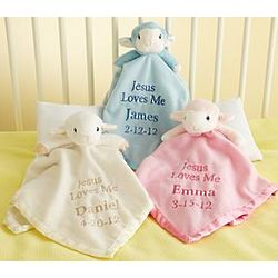 Personalized Precious Moments Jesus Loves Me Blankie