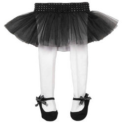 Baby's Ballerina Black and White Tutu Tights