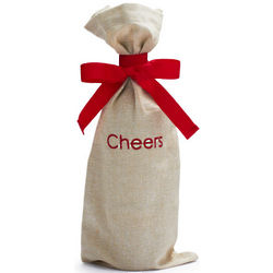 Cheers Cotton Wine Bag