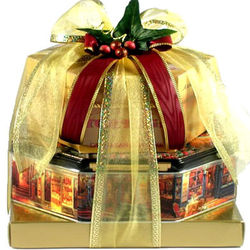 Cake, Cookies and Fudge Gift Tower
