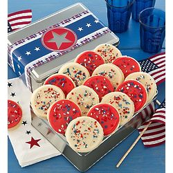 American Classic Patriotic Cookies Gift Tin