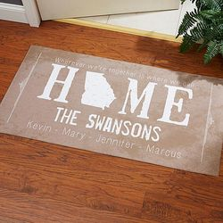State of Love Personalized Large Doormat