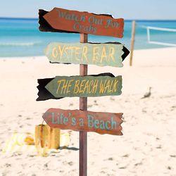 Metal Beach Fingerpost Sign