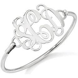 Sterling Silver Ornamental Monogram Bracelet