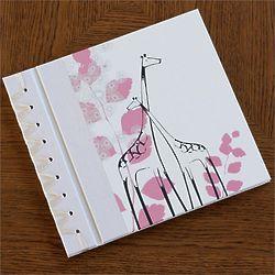 Baby's Pink Giraffe Memory Book