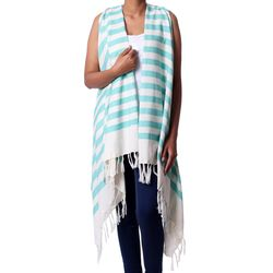 Beach Lover Cotton Swimsuit Cover-Up in Mint