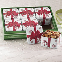 Mixed Nut Gift Sampler Tins Gift Box