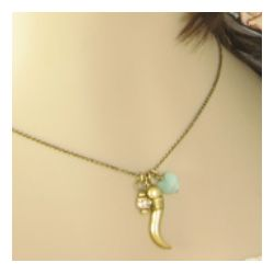 Antiqued Replica Brass Good Fortune Necklace