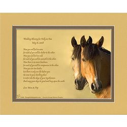 Wedding Poem Personalized Horses Print