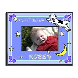 Personalized Boy's Cow Jumping Over the Moon Picture Frame