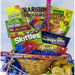 Pucker Power Candy Gift Basket
