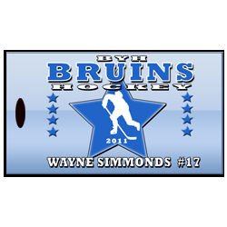 Personalized Ice Hockey Player or Coach Bag Tags