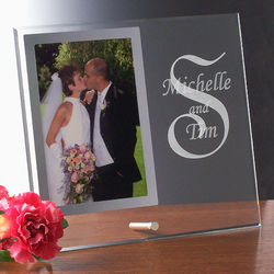 Beveled Cantebury Glass Photo Frame