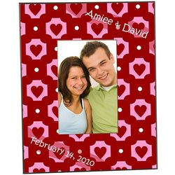 Romantic Hearts Valentine's Day Frame