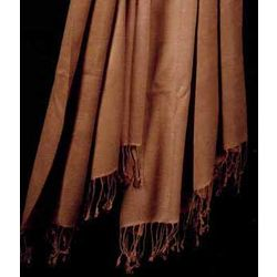 Ombre Dyed Pashmina Shawl in Rust Brown