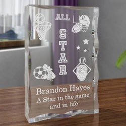 Personalized All-Star Sports Plaque