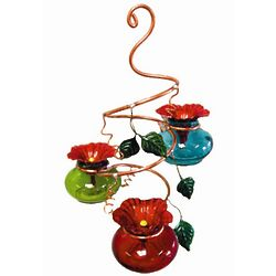 Vinester Multicolor Handcrafted Hummingbird Feeder