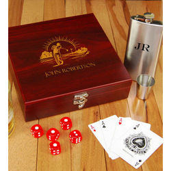 Golfer's Flask Set with Personalized Case