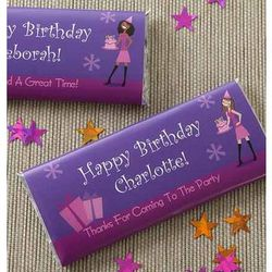 Personalized Birthday Girl Candy Bar Wrappers