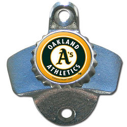 MLB Team Logo Wall-Mount Bottle Opener