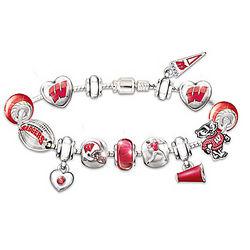 Wisconsin Badgers #1 Fan Charm Bracelet