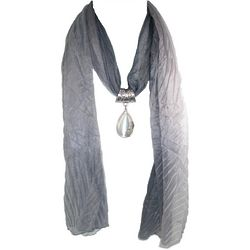 Bijoux Tiger Eye Grey Scarf Necklace