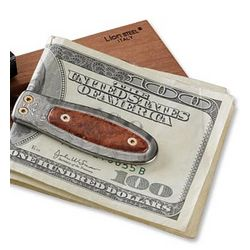 Damacus Steel and Wood Money Clip