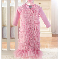 Baby's Pink Chiffon Sleep Gown
