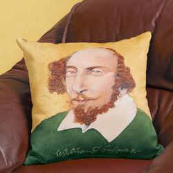 William Shakespeare Lit Pillow