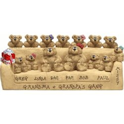 Grandma and Grandpa's Gang Personalized Bear Figurine