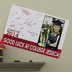 Small Graduation Party Custom Photo Signature Poster
