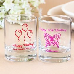 Personalized Shot Glass Votive Holders