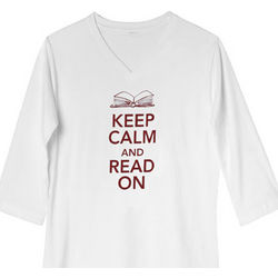 Keep Calm and Read On Quarter Sleeve Tee