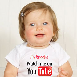 Personalized You Tube Get Connected Bodysuit