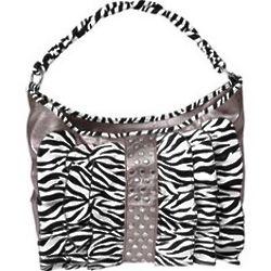 Women's Zebra Print and Ruffle Pruse