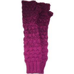 Long Soft Knit Fingerless Gloves
