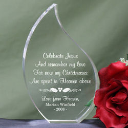 Personalized Christmas in Heaven Memorial