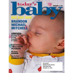 Personalized New Baby Magazine Cover Print