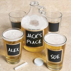 Chalkboard Growler and Pint Set