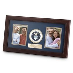 Personalized US Air Force Dual Picture Frame