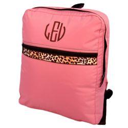 Pink Cheetah Print Nylon Personalized Backpack