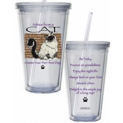 Advice from a Cat Insulated Tumbler with Straw