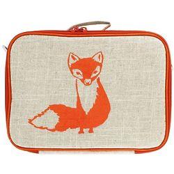 Orange Fox Insulated Kids Lunch Box